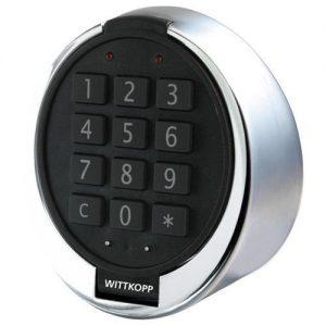 Multicode elektronisch slot + Alarmbox en kabeldoorvoer.